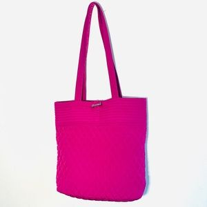 Vera Bradley Classic Magenta Quilted Cotton Tote